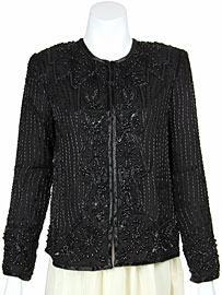 Hand Beaded Elaborate Bordered Jacket. 1136.