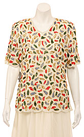 53cd3c681ac73 Petal Sequined Short Sleeved Blouse. 1254.