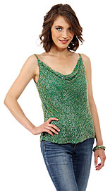 Spaghetti Straps Cowl Neck Pull Over Beaded Blouse. 1268.
