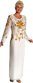 Hand Beaded Full Length Formal Dress