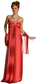 Ruched Ombre Grecian Style Formal Bridesmaid Dress