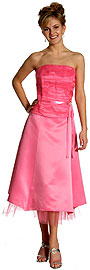 Strapless Princess Cut Two Piece Formal Party Dress