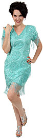Fringed Fully Beaded Short Gown