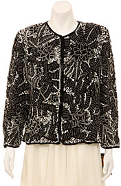 Fully Sequined Long Sleeve Jacket