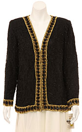 Long Sleeve Sophisticated Sequined Jacket. 3260.