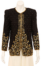 Growing Spring Garden Hand Beaded Jacket. 3264.
