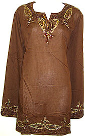 Long Sleeve Beaded Embroidered Top . 336.