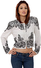 Mistletoe Hand Beaded Jacket. 3412.