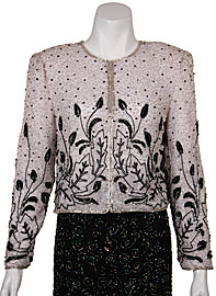 Floral Pattern Beadwork Jacket. 3415.