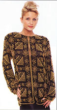Multiple Bead Design Jacket. 3518.
