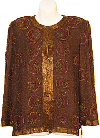 Circles Beaded Pattern Sequined Jacket . 3580.