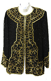 Full-Sleeved Beaded Jacket . 3639.