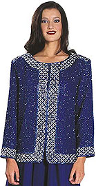 Bordered Beaded Jacket. 3680.