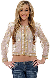 See Thru Sequin Beaded Jacket. 3693.
