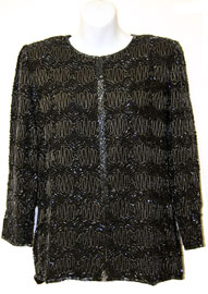 Full-Sleeved Beaded Jacket. 3766.