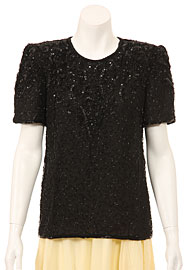 Short Sleeved Hand Beaded Blouse. 4082.