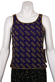 Diagonal Bead Design Tank Top. 4272.