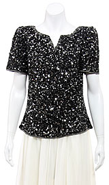 Sparkling Night Hand Sequined Blouse. 4377.