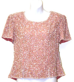 Sequined Blouse with Slits. 4381.