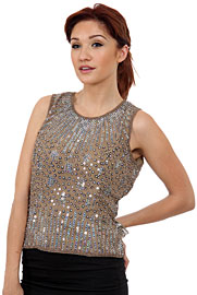 Sequined Blouse with Detailed Beading. 4390.
