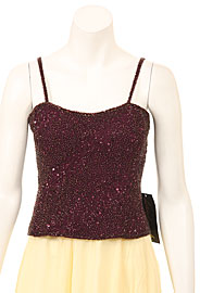 Fully Sequined Spaghetti Strap Sophisticated Blouse. 4399.