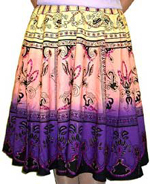 Sequined Multi-Color Print Skirt