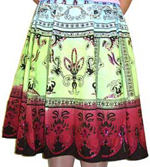 Sequined Multi-Color Print Skirt. 566-4.