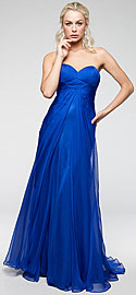 Strapless Double Layered Chiffon Formal Prom Dress