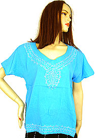 Half Sleeve Embroidered Top. bp04.
