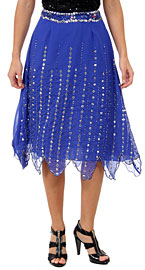 Bead Embellished Knee Length Skirt . ks107.