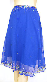 Bead Embellished Knee Length Skirt . ks108.