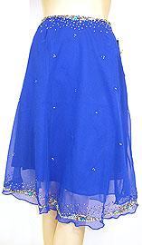 Bead Embellished Knee Length Skirt . ks108.