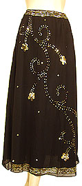 Bead Embellished Knee Length Skirt . ks116.
