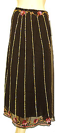 Bead Embellished Knee Length Skirt . ks117.