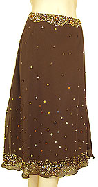 Bead Embellished Knee Length Skirt . ks92.