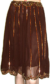Bead Embellished Tea Length Skirt. ks96-1.