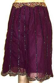 Bead Embellished Tea Length Skirt. ks96-2.