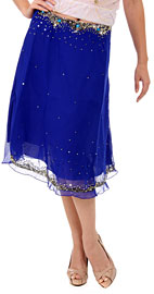 Bead Embellished Tea Length Skirt. ks98.