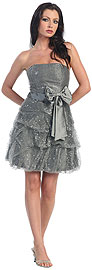 Strapless Sequin Bubble Party Dress