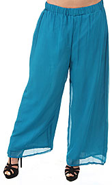 Loose Fit Straight Pants with Elastic Waist. pants-01.