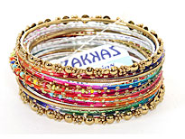 Set of 14 Brightly Colored Bangle Bracelets. POB-1922.