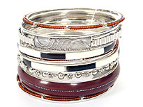Set of 11 Assorted Bangle Bracelets. pob-4832.