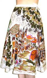 Multi-Color Print Skirt