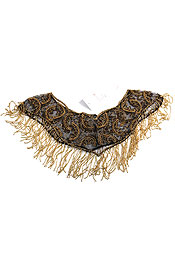 Half Moon Beaded Collar Scarf. sf27.