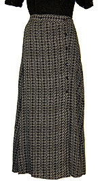 Diamond Print Long Polyester Skirt. sk-101.