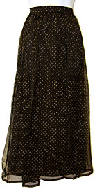 Polka Dots Long Polyester Skirt. skt-01.