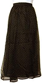Polka Dots Long Polyester Skirt. skt-01.