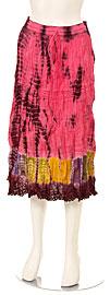 Tie & Dye Crinkled Pink Multi Skirt. skt-c5.