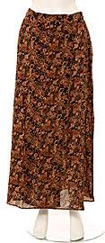 Full Length Flower Pattern Button Skirt. skt-f.