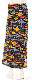 Multi-Colored Fish Sarong. skt-fish.